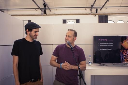 05.09.13 - Alain Brülisauer und Sebastian Reinicke beim Workshop im Postbahnhof